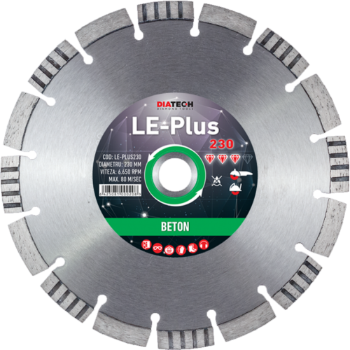 LE-PLUS 230 Disc diamantat segmentat LE-Plus 230