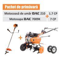 PACHET PRIMAVARA RURIS ( MOTOSAPA DAC 7009K, 7 CP+MOTOCOASA DE UMAR 1.7 CP DAC 210)