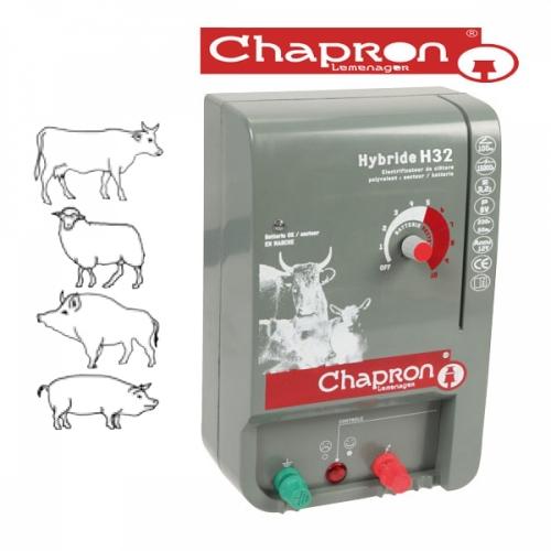 OFERTA- Generator de impulsuri gard electric animale domestice,Hybride H32 220V/12V 3.2J Chapron